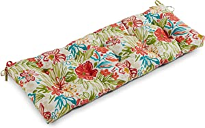 South Pine Porch AM5812-Breeze Breeze Floral 51-inch Outdoor Bench Cushion