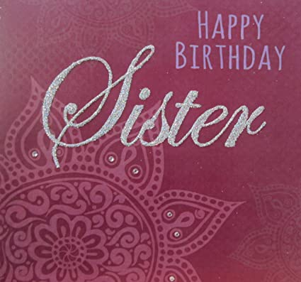 Happy Birthday Sister Images.Amazon Com White Cotton Cards R9 Sis Happy Birthday Sister