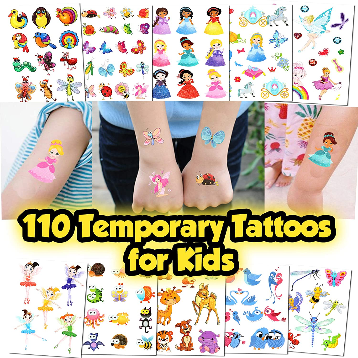 Amazon.com: Kids Temporary Tattoos - More Than 100 Easy-to-Use ...