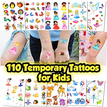 Kids Temporary Tattoos - More Than 100 Easy-to-Use Tattoos for Children  (Kids Tattoos 4)