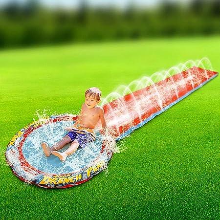 Aspersor para niños de 16 pies Aqua Water Slip N Slide para remojar Piscina, jardín, césped, Juego de Verano Familiar, diversión húmeda: Amazon.es: Hogar