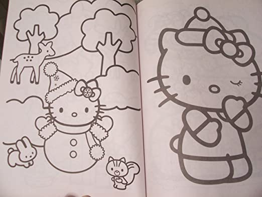 amazoncom hello kitty 288 page coloring 2012 toys games