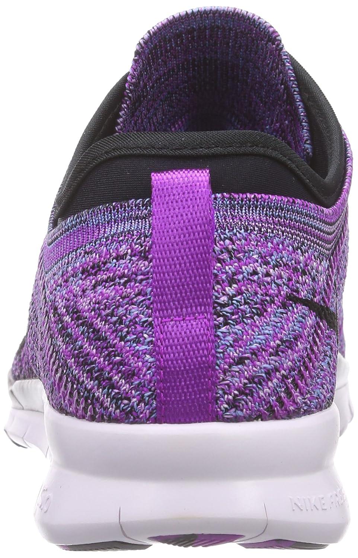 Nike Women's Free TR Flyknit B016FW1IHA 5.5 B(M) US|Vivid Purple/Black-fuchsia Glow-light Volt