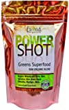 100% PURE - Raw Organic Vegan - Power Shot Greens Superfood Blend - Spirulina, Chlorella, Wheat Grass, Blue-Green Algae, Kale, More! - 60 SERVINGS from Essona Organics, Powder - 180 gms. Order Today!