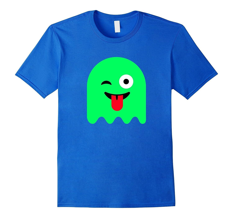 Cute Ghost Emoji Face Shirt Halloween Costume Kids Girl Boy-FL