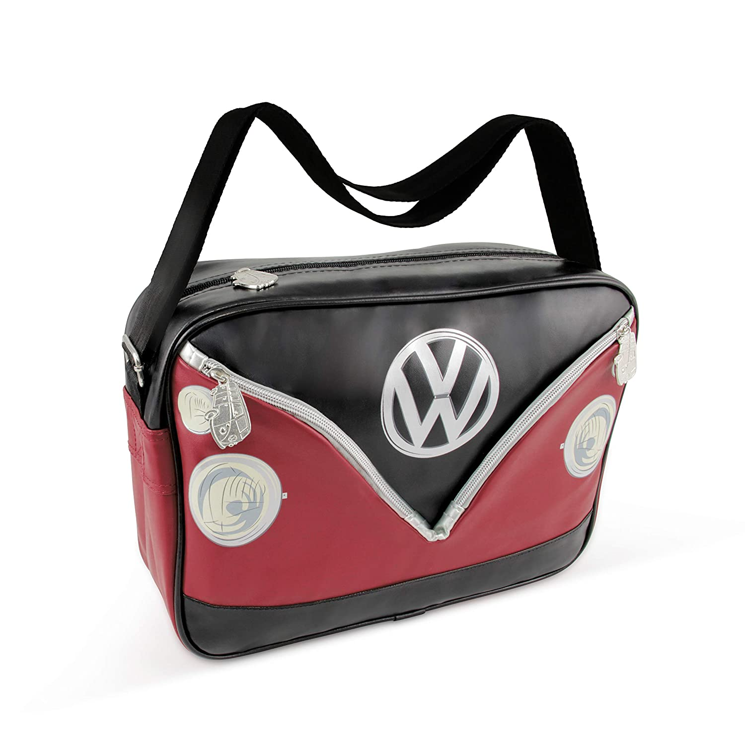 4c9efc19585ee VW Collection by Brisa Shoulder Bag Red Black: Amazon.co.uk: Kitchen & Home