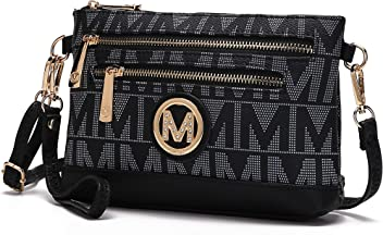 Miami M Signature Crossbody Over the Shoulder Luxury Womens Purses and Handbags Bag by Mia K