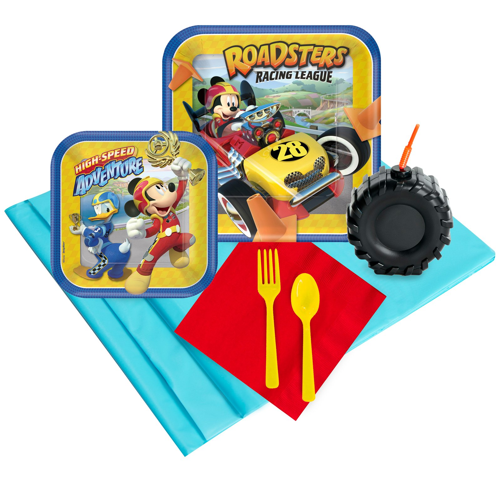 BirthdayExpress Mickey Roadster Party Supplies Party Pack with Molded Favor Cup (16)