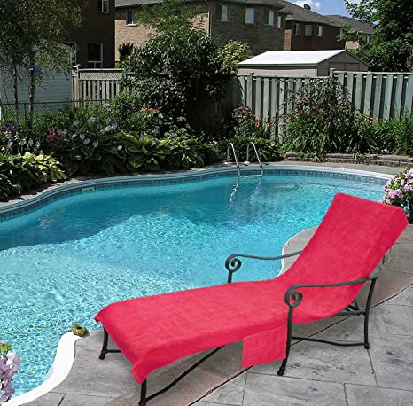 pool lounge chairs. Pool Side 1000-Gram Chaise Cover, Lounge Chair Cover With 10-Inch Chairs A