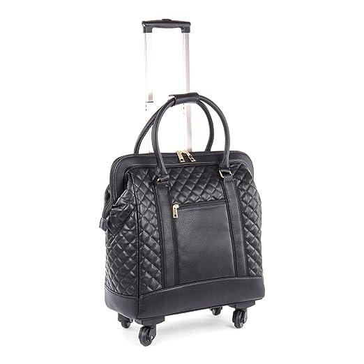 4984ae69149 Amazon.com  Bugatti Monica Ladies Business Case On Wheels, Vegan ...