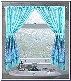 "Carnation FWC-OC ""Oceanic"" Fabric Curtain, Blue"