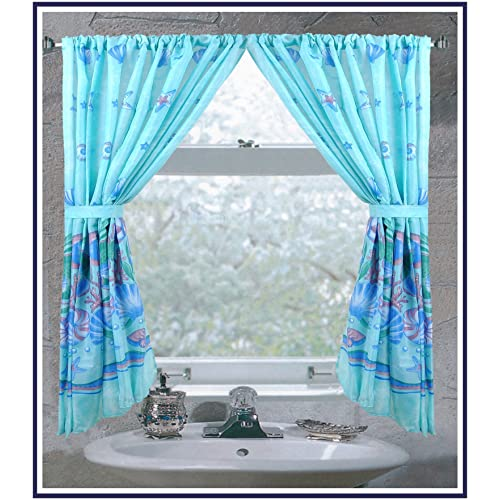 Bathroom Curtain With Matching Bath Window Curtain: Amazon.com