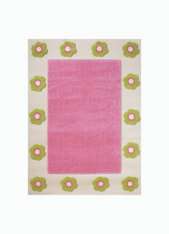 Little Helper 121RN030PE10153 IVI Hypoallergener Hochfloriger und Hochwertiger Teppich - Design Blumenbeet - 100 x