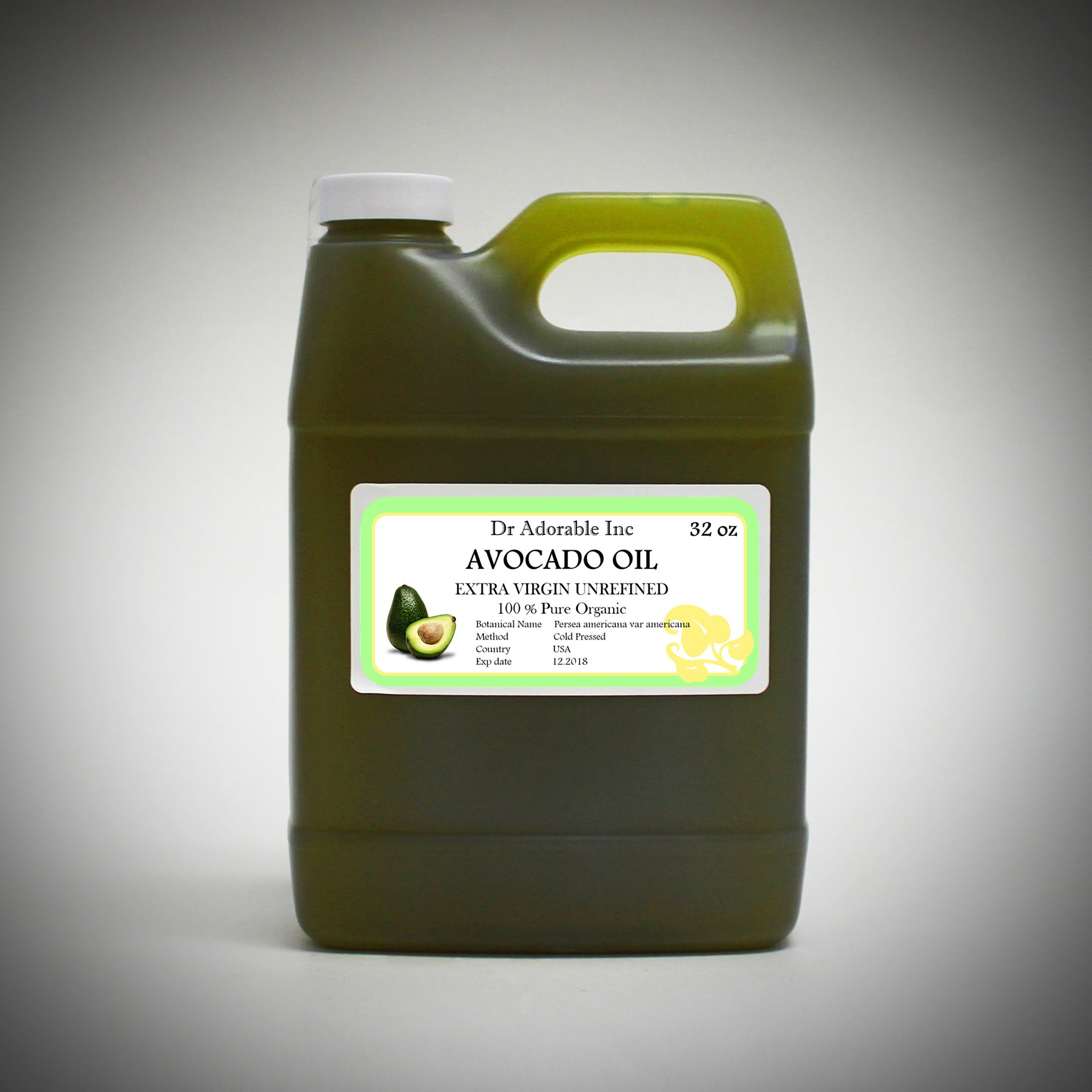 32 OZ PREMIUM AVOCADO OIL EXTRA VIRGIN RAW UNREFINED ORGANIC COLD PRESSED by Dr Adorable