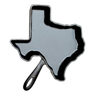 American Skillet Company ASC-TX Texas Cast Iron Skillet, One Size, Season Black