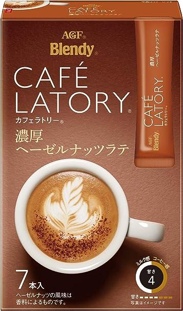 AGFブレンディカフェラトリースティック濃厚ヘーゼルナッツラテ7本×6箱【スティックコーヒー】