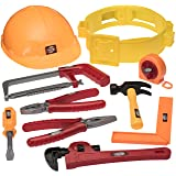 Prextex Little Handyman Kids Toy Tool Belt Set with Accessories and Adjustable Hard Hat