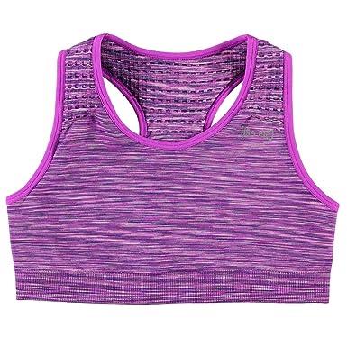 cf3ccf49329c0 USA Pro Kids Girls Seamless Crop Top Junior Sports Bra Crew Neck   Amazon.co.uk  Clothing