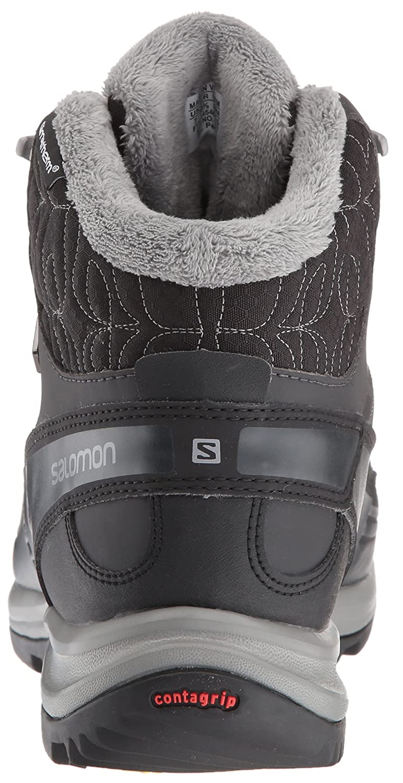Salomon Women's Kaina CS Waterproof 2 Snow Boot B01HGD860E 5 B(M) US|Black/Asphalt/Flashy