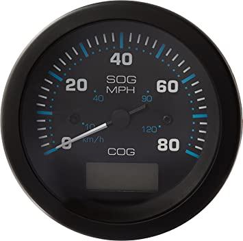 3 Sierra International 781-684-080P Scratch Resistant Eclipse Gauge 80 MPH GPS Speedometer