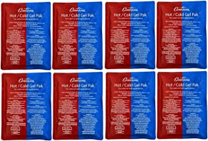 """Hot or Cold Gel Pack Set of 8- XL Size (8 x 11"""") Reusable Ice Pak for Icing and Heating Injuries, Therapy, and Keeping Food Warm or Cold- Microwave and Freezer Safe"""