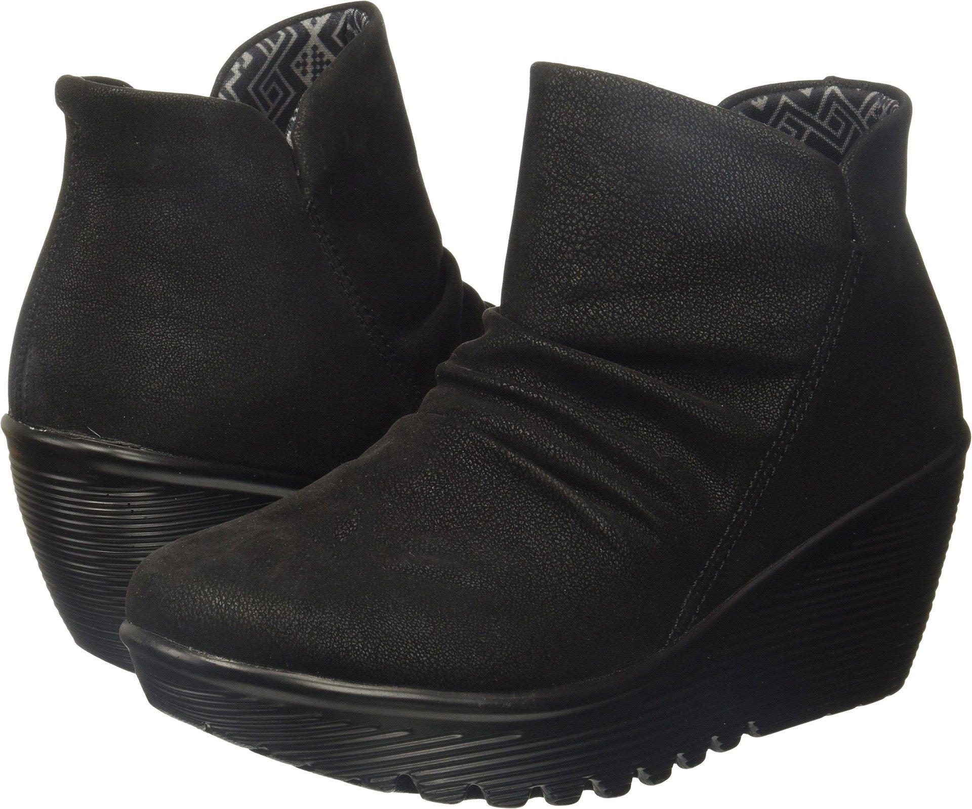 Skechers Women's Parallel-Dusk Ankle Bootie,Black,6.5 M US