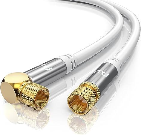 4 m Câble d/'antenne TV câble de raccordement 135db 5 positions Pur Cuivre IEC connecteur femelle