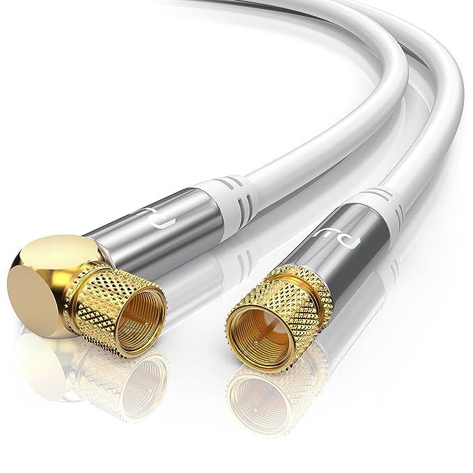 40 opinioni per PW- 10 m 135dB HDTV Cavo satellitare a Gomito 90° | 75 Ohm | Serie Premium |
