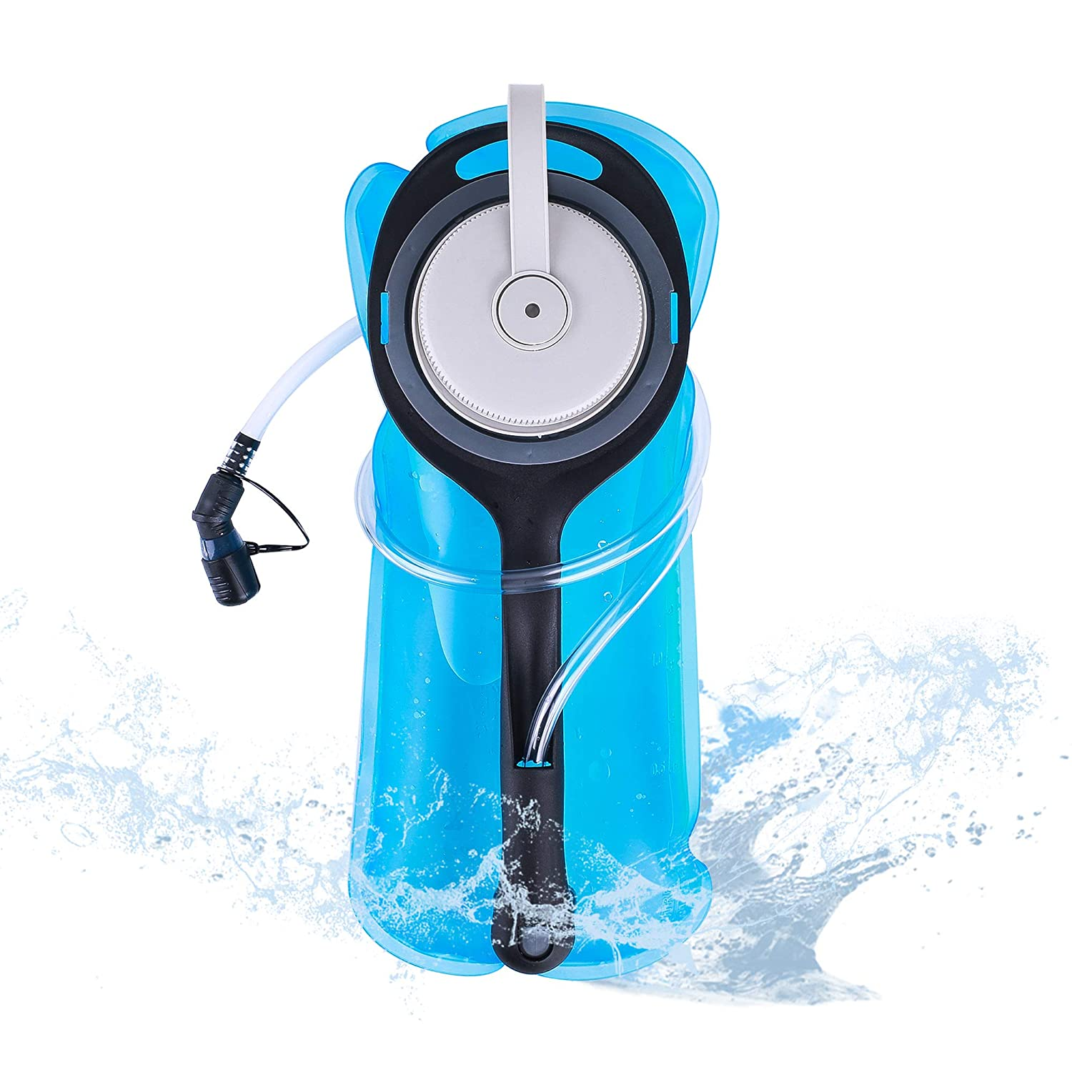Upgrade Hydration Bladder, 2L Water Bladder BPA Free Military Class Leakproof Water Reservoir with Wide Opening Self-Locking Valve for Hiking Climbing Cycling Running and Any Outdoor Sports