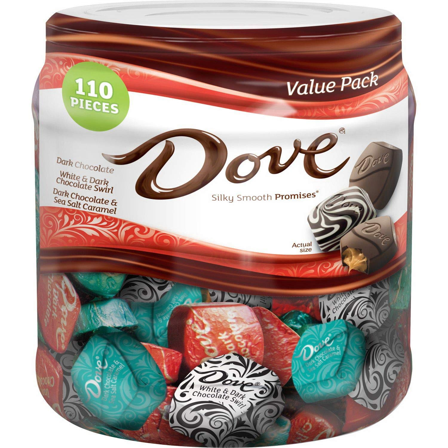 Dove Promises Dark Chocolate Variety Jar (31 oz.)(Pack of 2) M