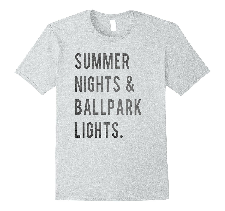 fdbe872e6f1 Summer Nights Ballpark Lights Tee Baseball Mom T-Shirt-PL – Polozatee