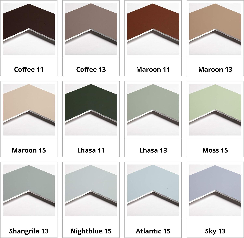 Reinwei/ß Au/ßen: DIN A2 // f/ür Bildgr/ö/ße: DIN A3-34 Farben zur Auswahl in Allen Standardgr/ö/ßen Passepartout Premium Museumsqualit/ät 1 St/ück