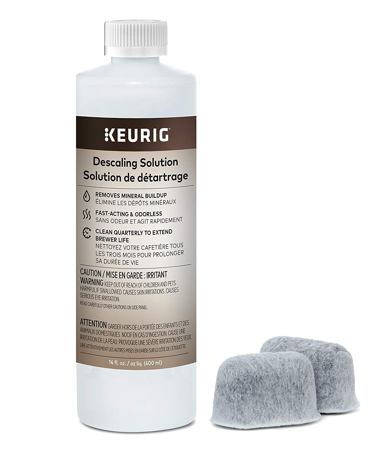 Keurig Brewer Care Kit with Descaling Solution and 2 Water Filter Cartridges, Compatible with All 2.0 and 1.0 K-Cup Pod Coffee Makers
