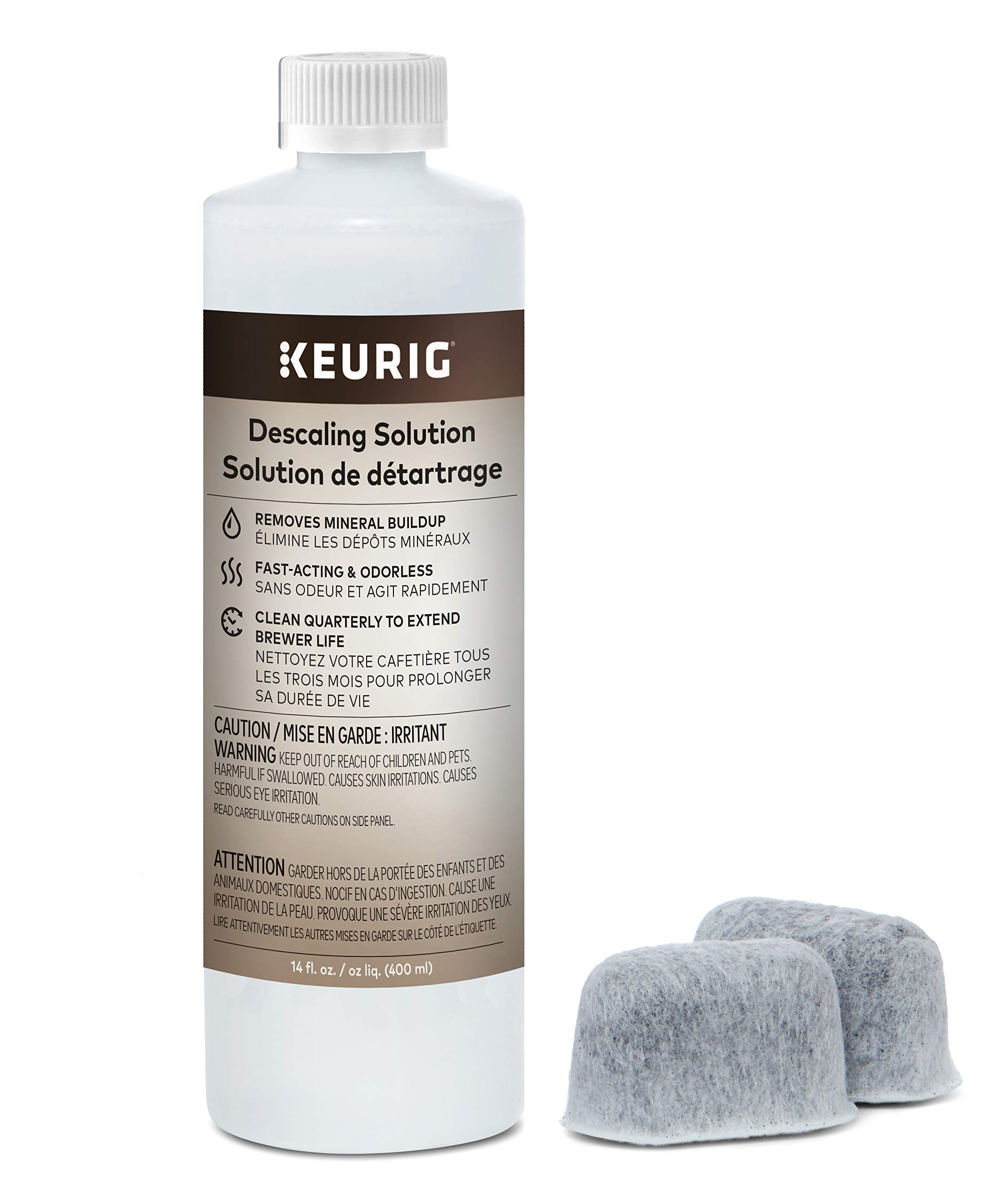 Keurig Brewer Care Kit with Descaling Solution and 2 Water Filter Cartridges, Compatible With All