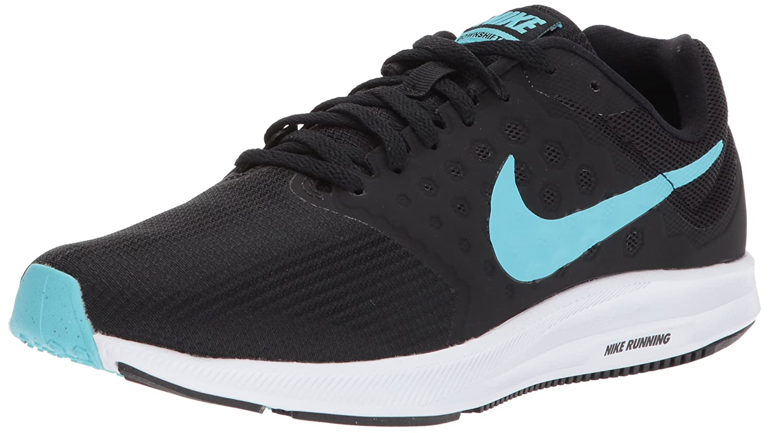 NIKE Women's Downshifter 7 B06WLMX789 10 B(M) US|Black/Polarized Blue-white