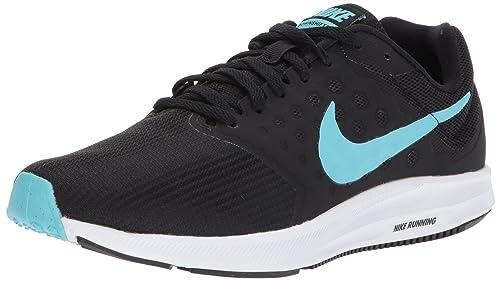 0db4beaee5d018 Nike Unisex Adults  Zapatillas DE Running WMNS Downshifter 7 Black Polarized  Blue White Fitness