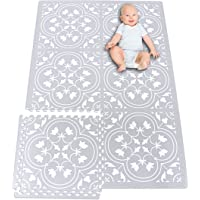 Premium Stylish Foam Baby Mat, Extra Large and Thick Floor Tiles, 72 by 48 Inches, Easily Expandable, Non-Toxic, Spill…