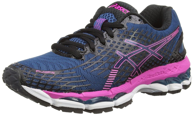 san francisco 55a9e 15b4f ASICS Gel-Nimbus 17, Chaussures de Running Entrainement Femme - Bleu  (mosaic Blue onyx pink Glow 5399), 35.5 EU (3 UK )  Amazon.fr  Chaussures et  Sacs