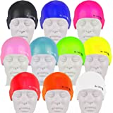 Swim Elite Gorro de natación - Seamless Silicone Swimming Cap for Adults and Junior - Training and Racing