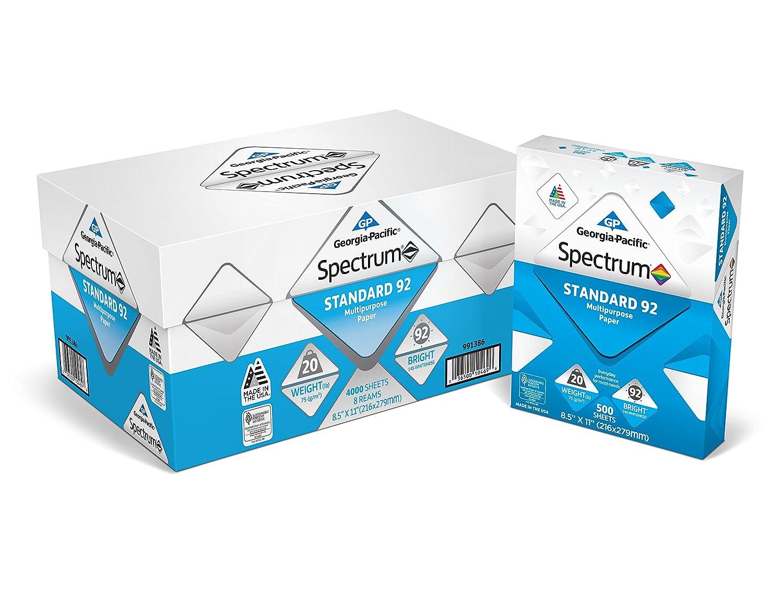 Multipurpose Printer Paper Spectrum Convenience White Graphics Georgia Pacific