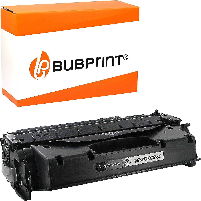 Bubprint Toner Kompatibel Für Hp Q5949a Q7553a Für Laserjet 1160 1320 1320n 1320nw 1320tn 3390 M2727nf M2727nfs P2014 P2015d P2015dn P2015n Schwarz Bürobedarf Schreibwaren