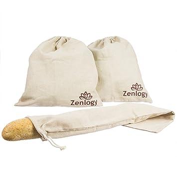 Lino Pan bolsas para Artisan caseras Baked Pan - 2 bolsas de ...