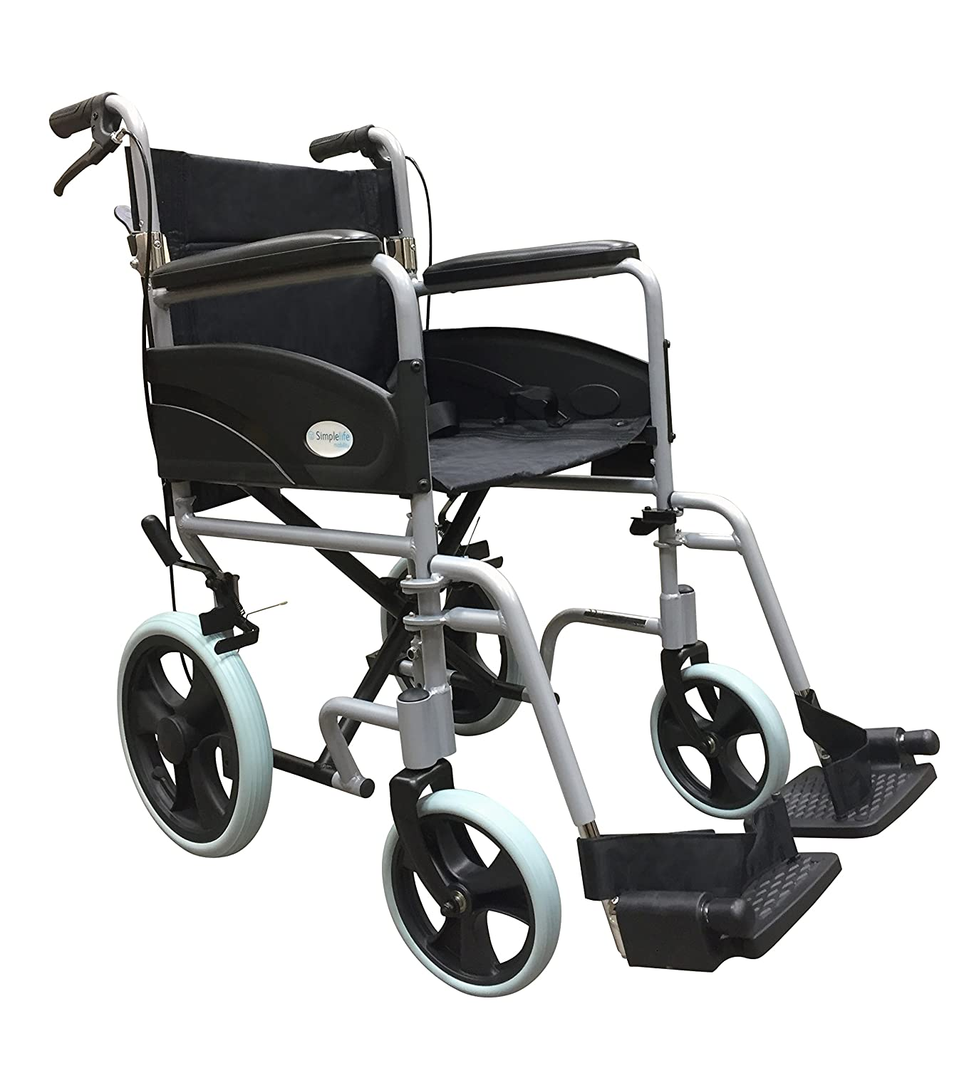 Simplelife Mobility Lightweight Folding Transit Wheelchair
