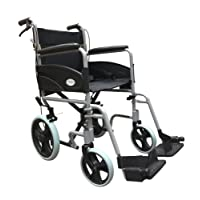 Simplelife Mobility Ultra Lightweight Folding Transit Wheelchair with Handbrakes