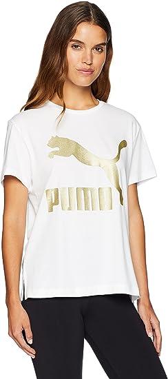 Puma T Shirt à Logo Classique pour Femme: