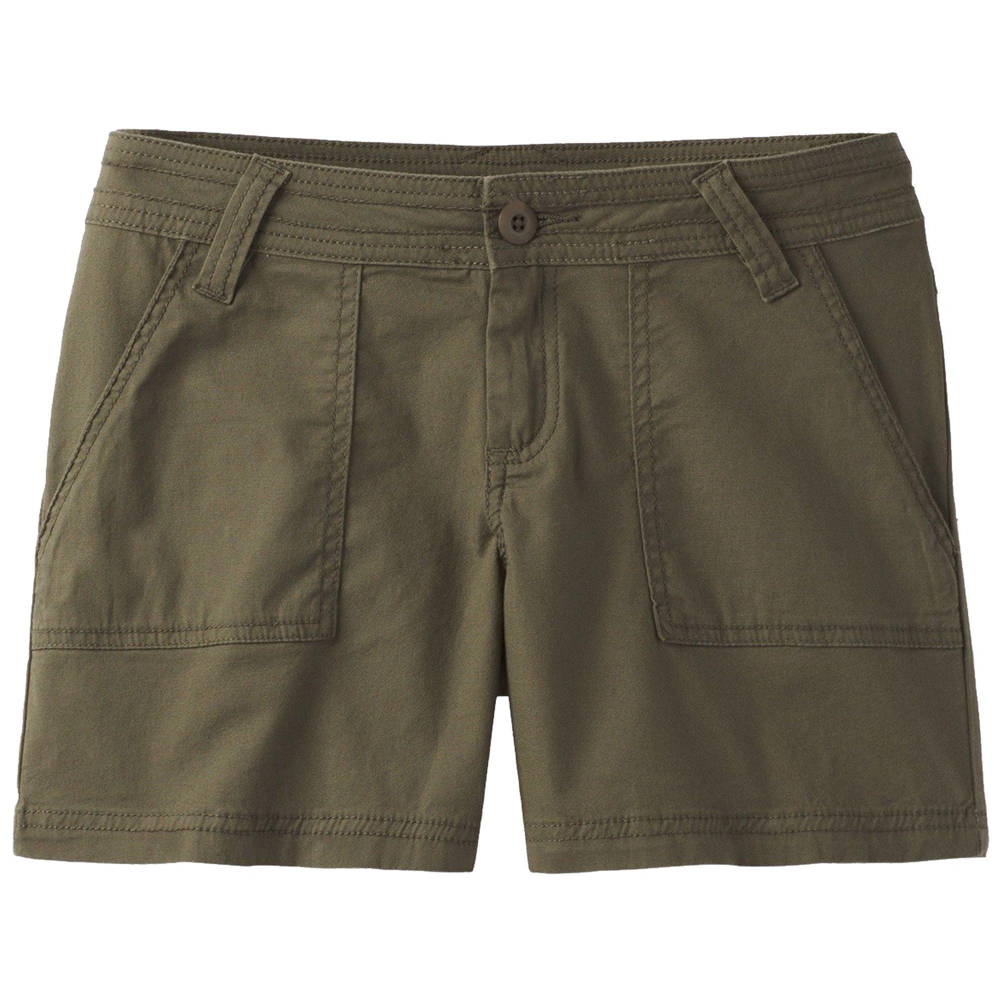 prAna Tess 5'' Inseam Shorts, Cargo Green, Size 10