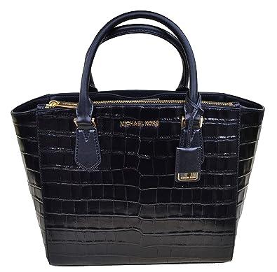 220c25690c15 Michael Kors Grand sac à main et bandoulière Mindy Noir cuir 40x23x13cm neuf