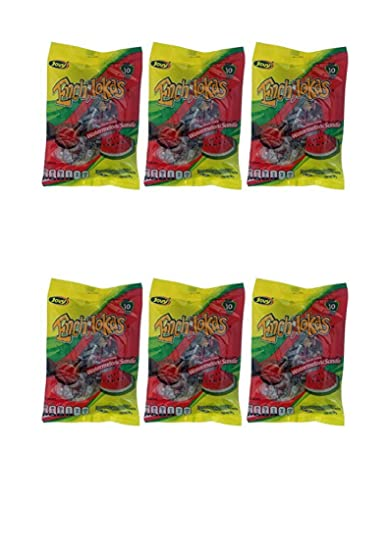 Jovy Enchilokas Watermelon Flavor & Tamarind Covered Gummies with Chilli | Mexican Candy, Chilli -