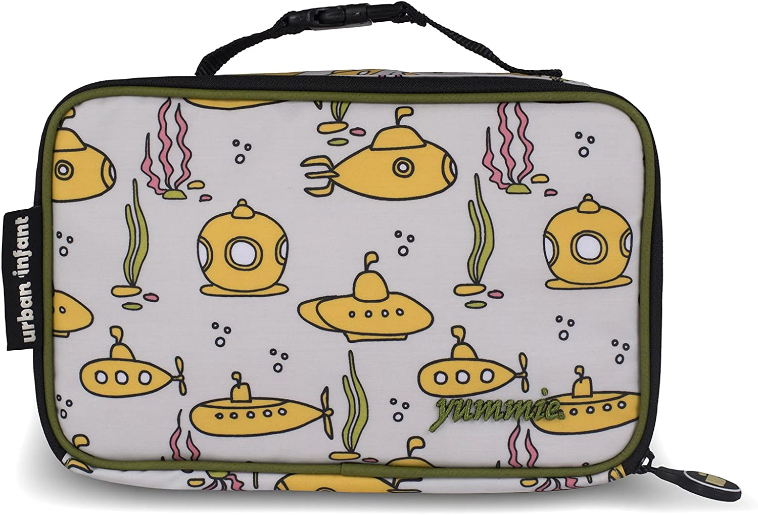 Urban Infant Yummie Lunch Bag with Allergy Alert Cards - Submarines