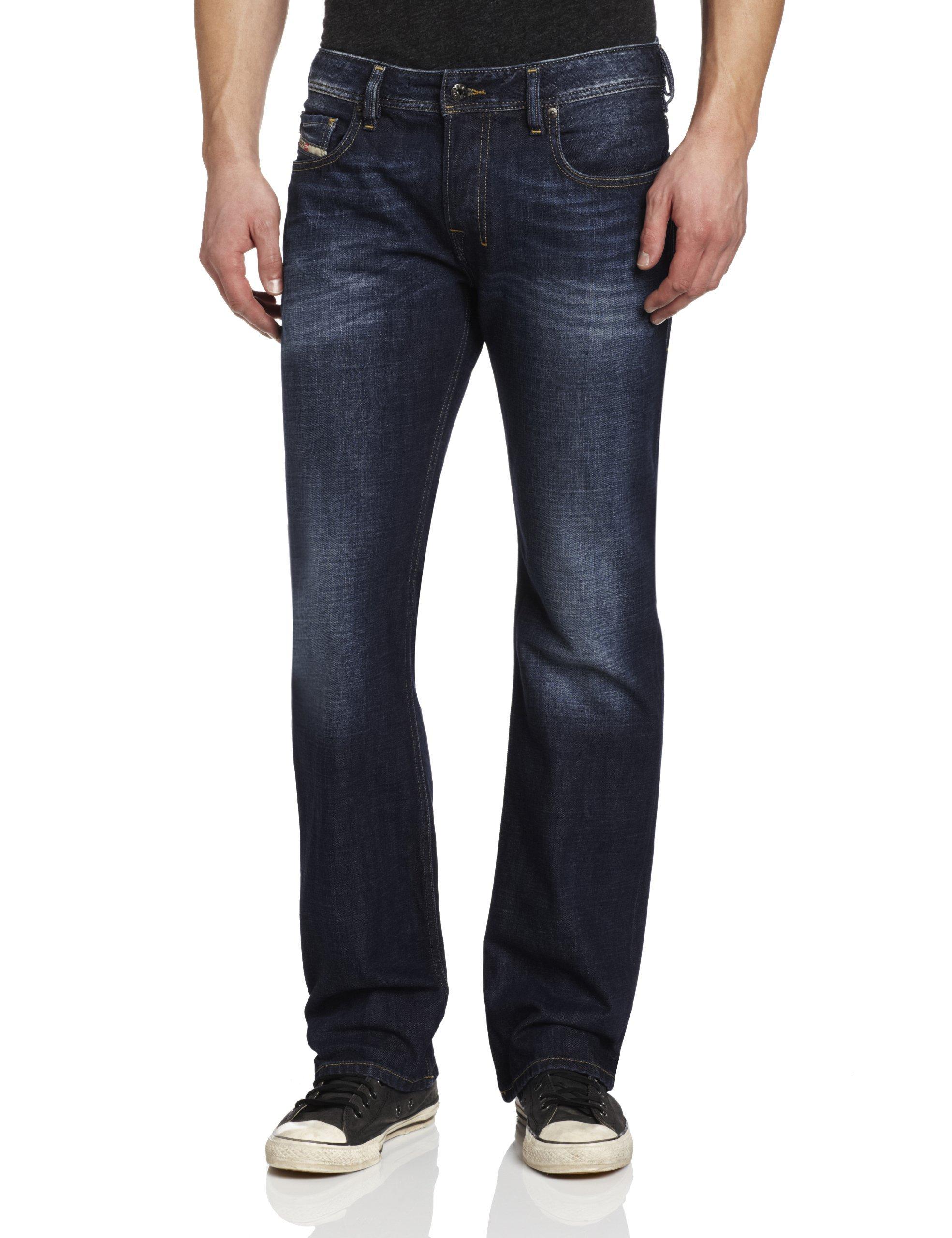 Diesel Men's Zatiny Slim Micro Bootcut Leg Jean 0074W, Denim, 31x32